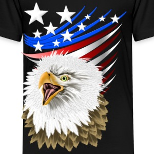 Flag N Eagle - Toddler Premium T-Shirt