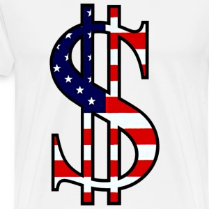 dollar flag - Men's Premium T-Shirt