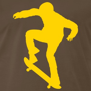 Chocolate Ollie Skater - Skateboarding - Skating T-Shirts - Men's Premium T-Shirt