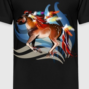 Horse N Bright Feathers - Toddler Premium T-Shirt