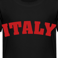 Design ~ Toddler Italy, Red on Black