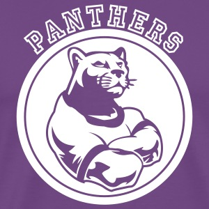 Purple Panthers Dark Team Graphic T-Shirts - Men's Premium T-Shirt