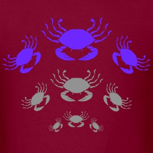 Burgundy Crabs T-Shirts - Men's T-Shirt