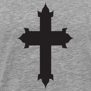Heather grey cross T-Shirts - Men's Premium T-Shirt