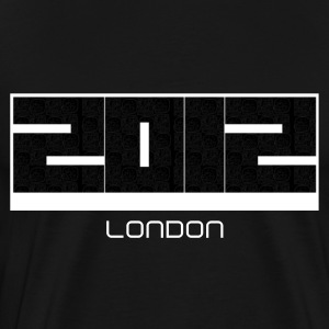 2012 [london text customised] Black blocks - Men's Premium T-Shirt