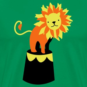Kelly green circus lion on a podium cute! T-Shirts - Men's Premium T-Shirt