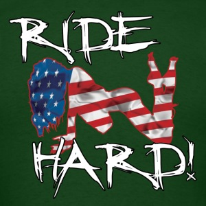 Ride Hard-(Customizable Text) - Men's T-Shirt