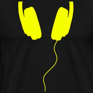 headphones yellow - Men's Premium T-Shirt