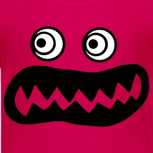 Hot pink ugly monster Kids' Shirts - Kids' Premium T-Shirt