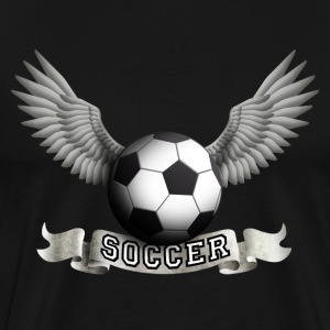 Black soccer_wings_a T-Shirts - Men's Premium T-Shirt