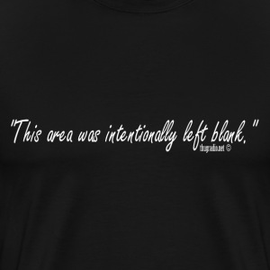 Blank Black T-Shirt - Men's Premium T-Shirt