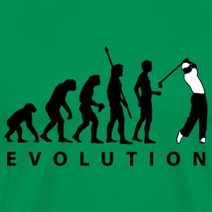 Bright green evolution_golf_a_2c T-Shirts - Men's Premium T-Shirt