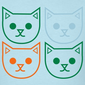 Sky blue four cats outlines very cute! T-Shirts - Men's T-Shirt