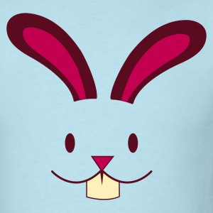 Sky blue EASTER rabbit cute face with teeth ! T-Shirts - Men's T-Shirt