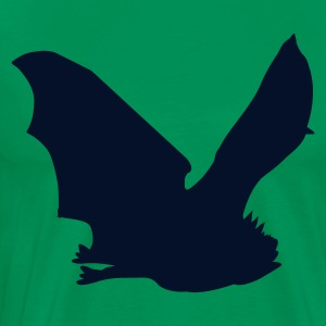 Kelly green bat flying T-Shirts - Men's Premium T-Shirt