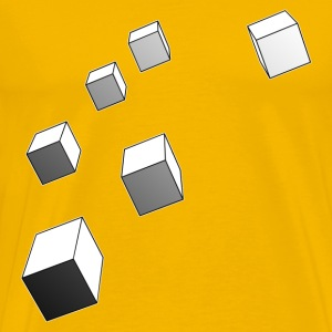 Yellow cubesfalls_copy T-Shirts - Men's Premium T-Shirt