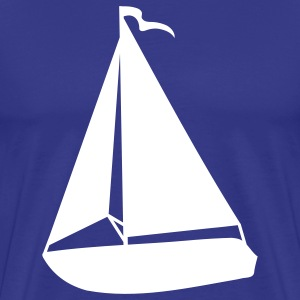 Mens Sailboat Silhouette T-shirt - Men's Premium T-Shirt