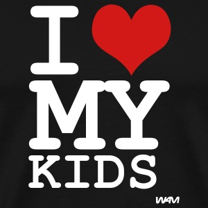 Black i love my kids by wam T-Shirts - Men's Premium T-Shirt