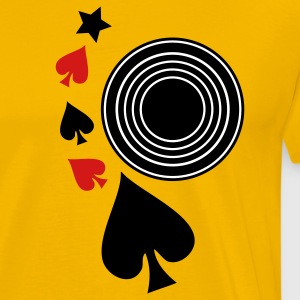 Gold music record poker and spades T-Shirts - Men's Premium T-Shirt