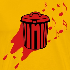Gold trashy music trash garbage can T-Shirts - Men's Premium T-Shirt