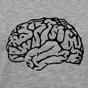 Heather grey brain T-Shirts - Men's Premium T-Shirt