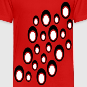 Red Random Double Ovals With Cut Outs, Large, Diagonal Toddler Shirts - Toddler Premium T-Shirt