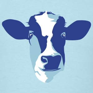 Sky blue cow T-Shirts - Men's T-Shirt