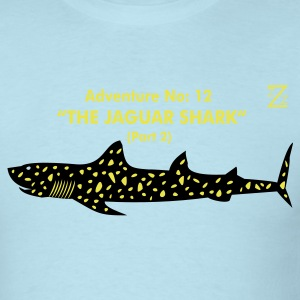 Sky blue jaguar shark T-Shirts - Men's T-Shirt