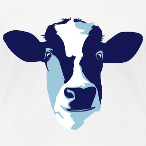 White cow Plus Size - Women's Premium T-Shirt