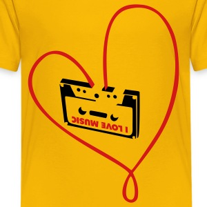 Yellow i_love_music_b Kids' Shirts - Kids' Premium T-Shirt