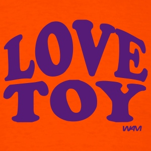 Orange love toy by wam T-Shirts - Men's T-Shirt