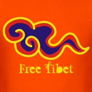 Orange free tibet T-Shirts - Men's T-Shirt