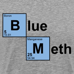 Heather grey Blue Meth T-Shirts - Men's Premium T-Shirt