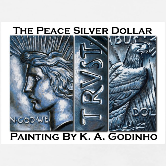 Peace Silver Dollar Men's T-shirt