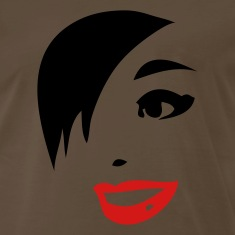 Brown vintage woman with red lips and 80's hair T-Shirts