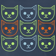 Navy nine cats adndy warhol style T-Shirts