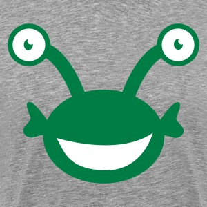 Heather grey kids alien with googly eyes T-Shirts - Men's Premium T-Shirt