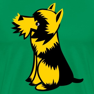 Kelly green scottie dog cute  T-Shirts - Men's Premium T-Shirt