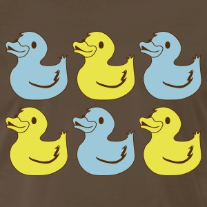 Brown six rubber duckies andy warhol style T-Shirts - Men's Premium T-Shirt