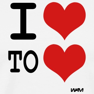 i love to love by wam T-shirts (manches courtes) - T-shirt premium pour hommes