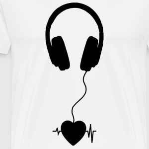 music lover black - Men's Premium T-Shirt