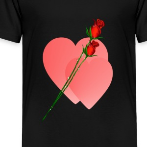 Two Roses Two Hearts - Toddler Premium T-Shirt