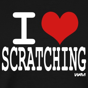Black i love scratching by wam  T-Shirts - Men's Premium T-Shirt