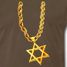 Chocolate Gold Star of David T-Shirts