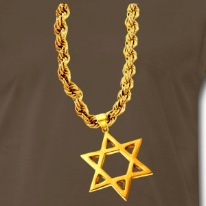 Chocolate Gold Star of David T-Shirts - Men's Premium T-Shirt