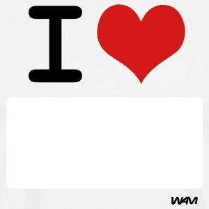 White I LOVE ...WRITE IT by wam ( writable flex) T-Shirts - Men's Premium T-Shirt