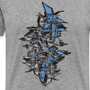 Ash  cool grafitti stack shapes T-Shirts - Men's Premium T-Shirt