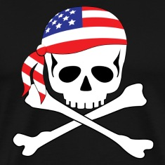 Black American Pirate T-Shirts
