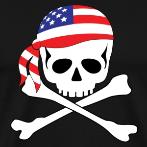 Black American Pirate T-Shirts - Men's Premium T-Shirt