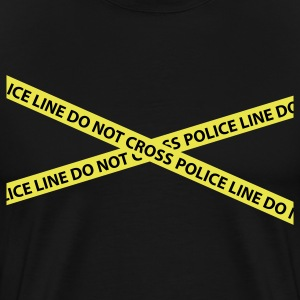 Black police line do not cross CSI T-Shirts - Men's Premium T-Shirt